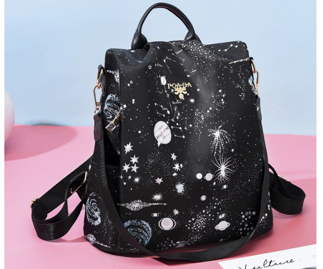 Women's Colorful Print Travel Backpack