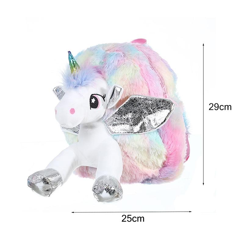 Cute Unicorn Shaped Plush Backpack