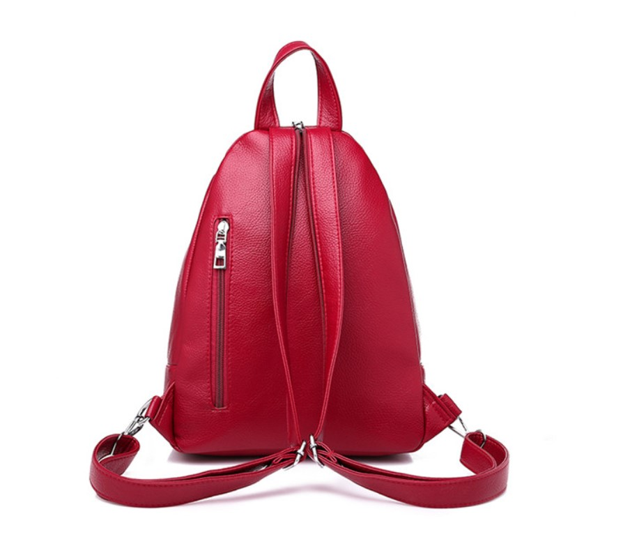 Women's Chain Detail Eco-Leather Backpack