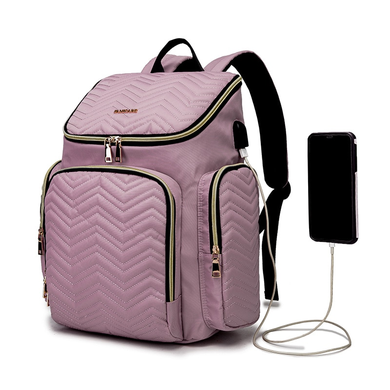 Women's Embroidered Diaper Bag