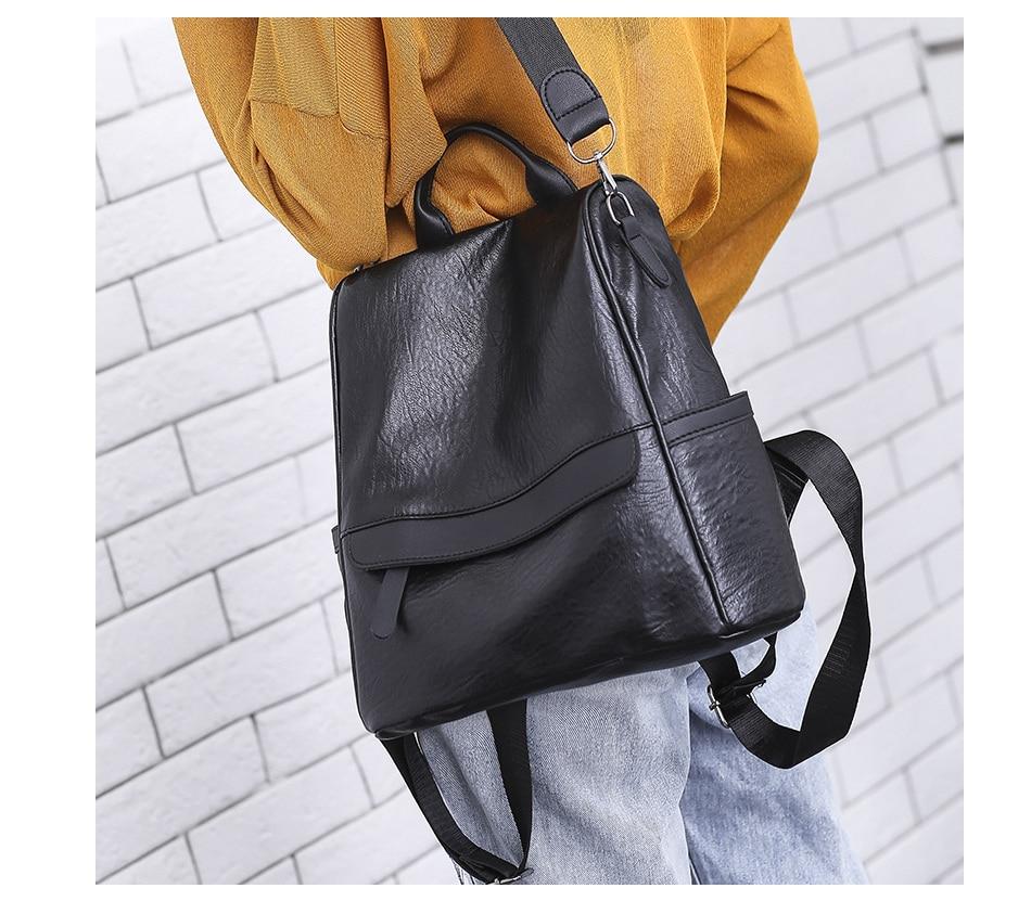 Women's Leather Vintage Backpack