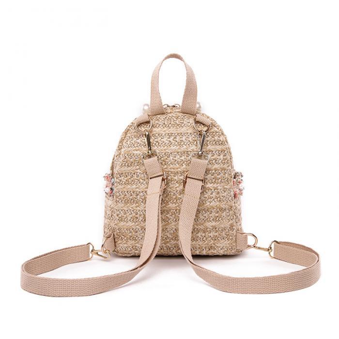 Women's Elegant Woven Backpack