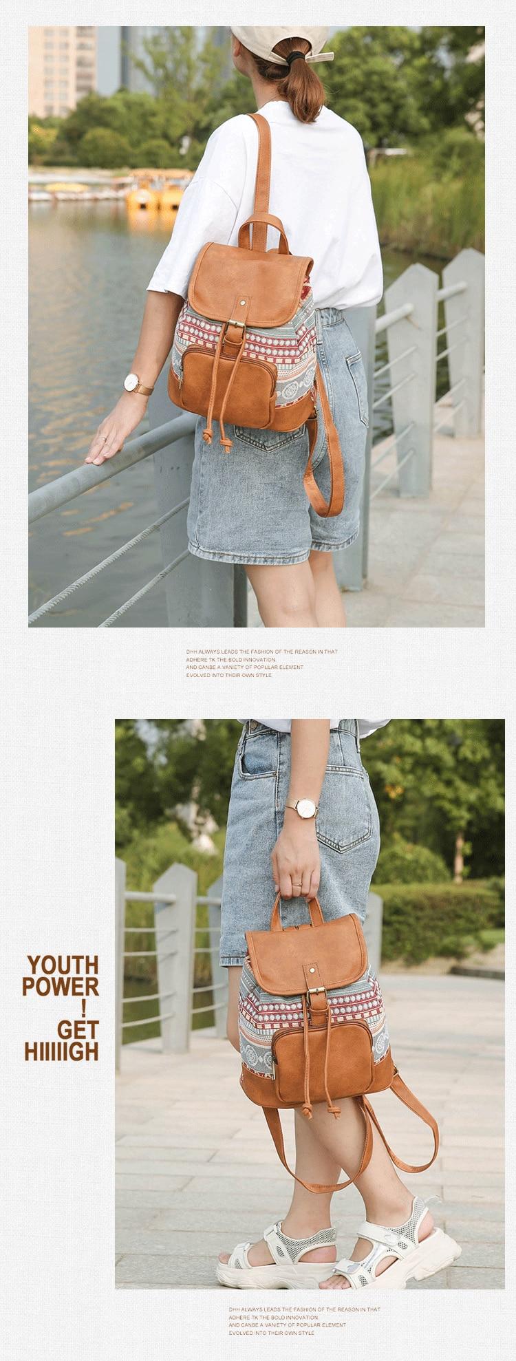 Bohemian Lightweight Backpack for Women