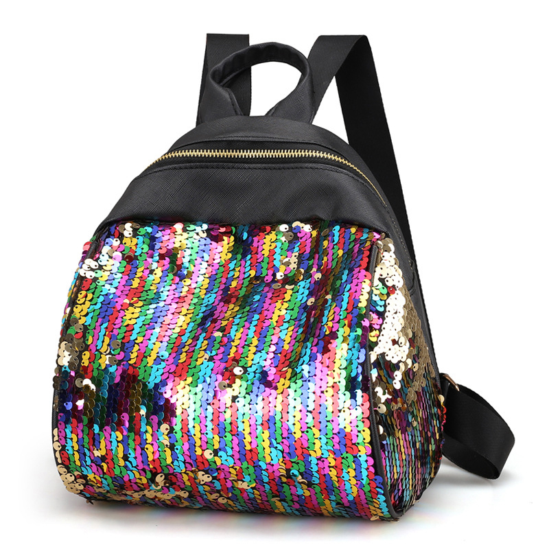 Luxury Shimmering Sequined Women's Backpack