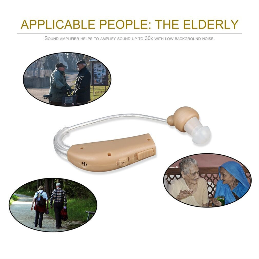 Portable Rechargeable Hearing Aid Set