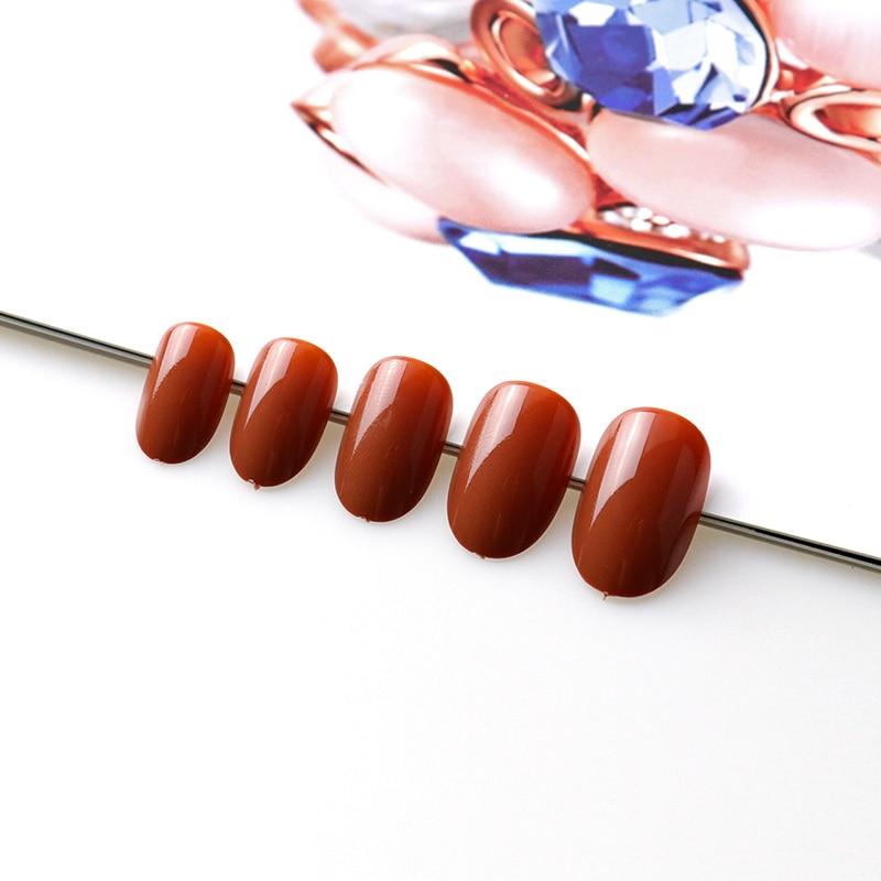 Oval Shaped sleek pearl Press-on Nails 100 Pcs Set