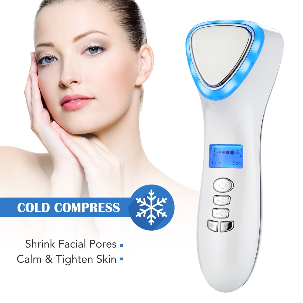 LED Hot and Cold Face Massager