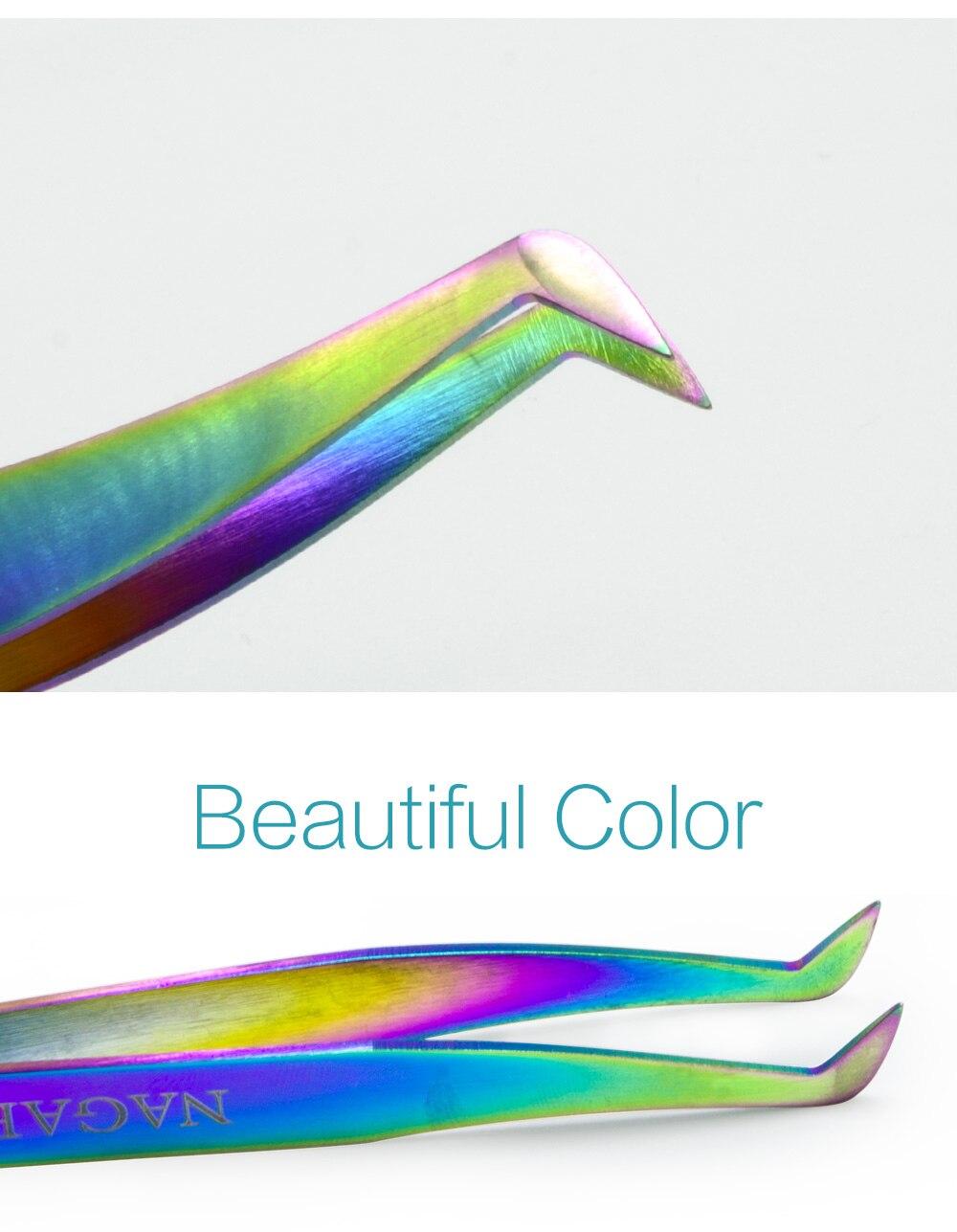 Non-magnetic Eyelash Extension Tweezers 5 Pcs Set