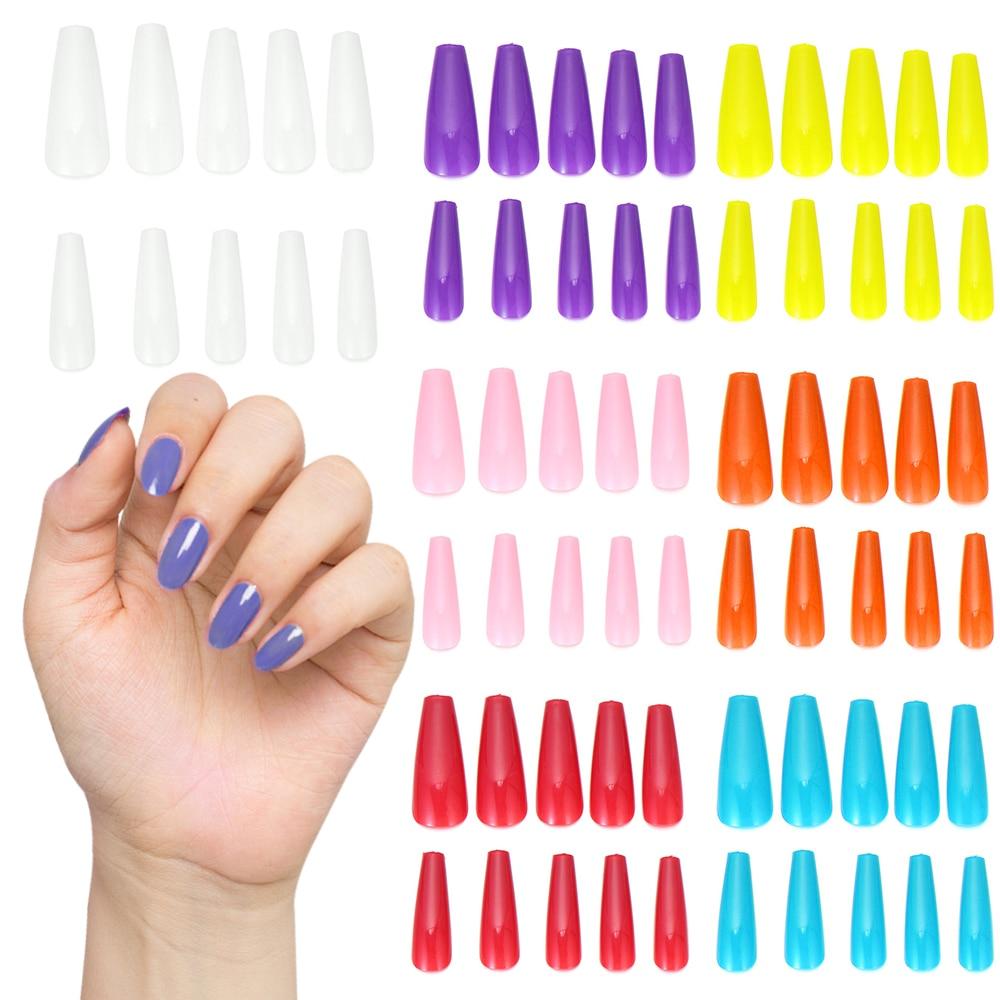 Colorful Long Acrylic Nails Set