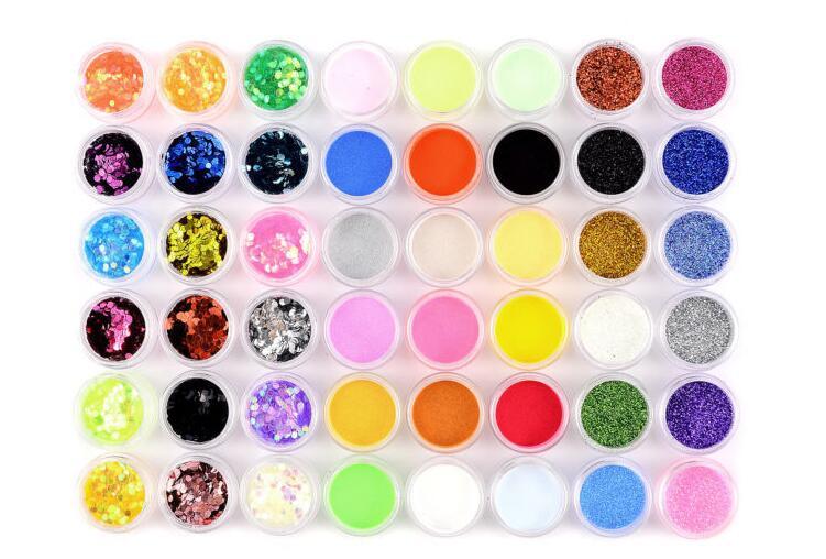 Set Nail Glitter Acrylic Powders