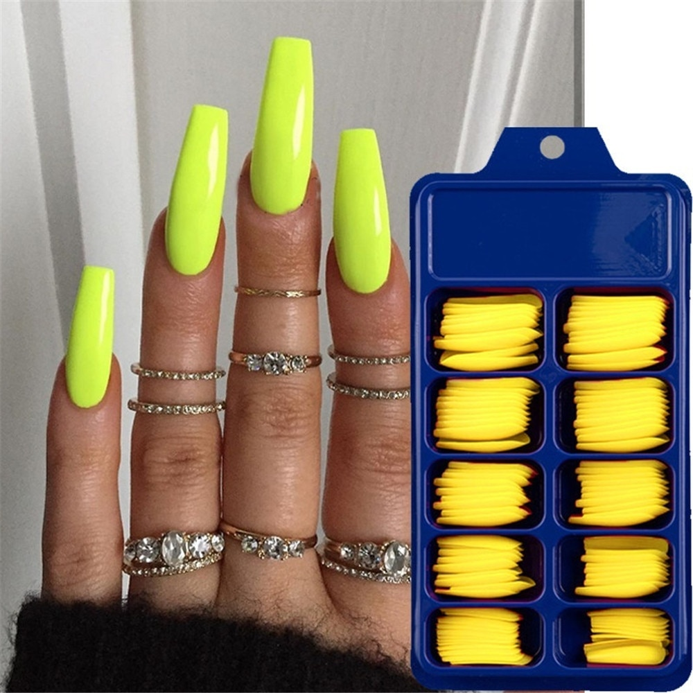 Colorful Full Cover Matte Acrylic Nails Set
