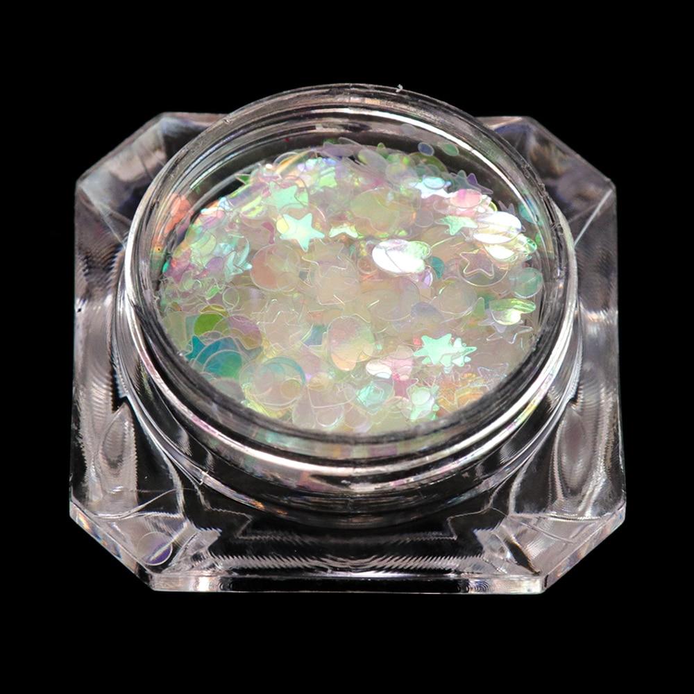 Holographic Flakes Nail Glitter Set