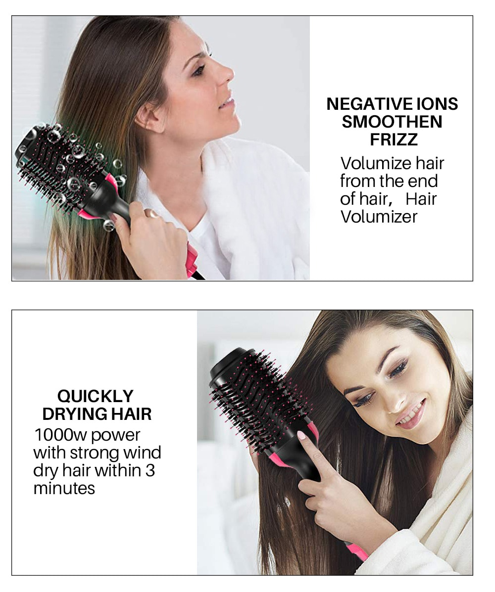 2 in 1 One Step Hair Dryer and Hair Straightener