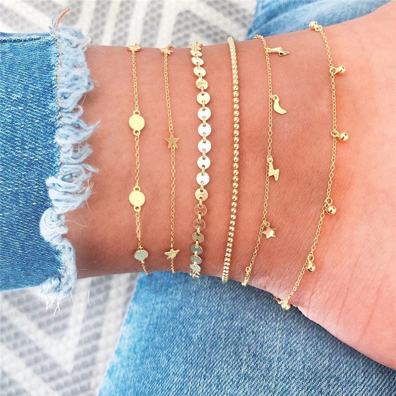 Crystal Butterfly Multi-Layer Anklet