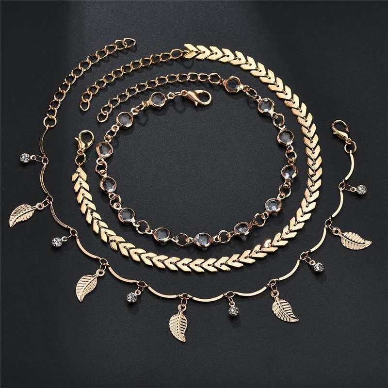 Women's Fashion Anklets Set