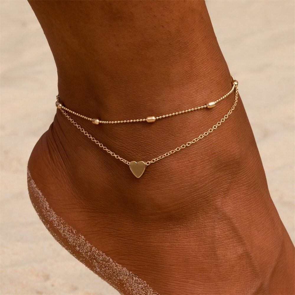 Women's Pineapple / Heart Design Anklet