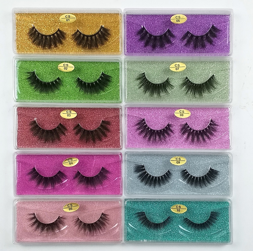 Natural Mink Eyelashes 30/40/50/100 Pairs Set