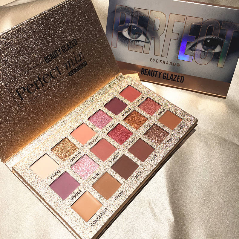 Beauty Glazed Glitter Eye Shadows 18 Colors Pallete