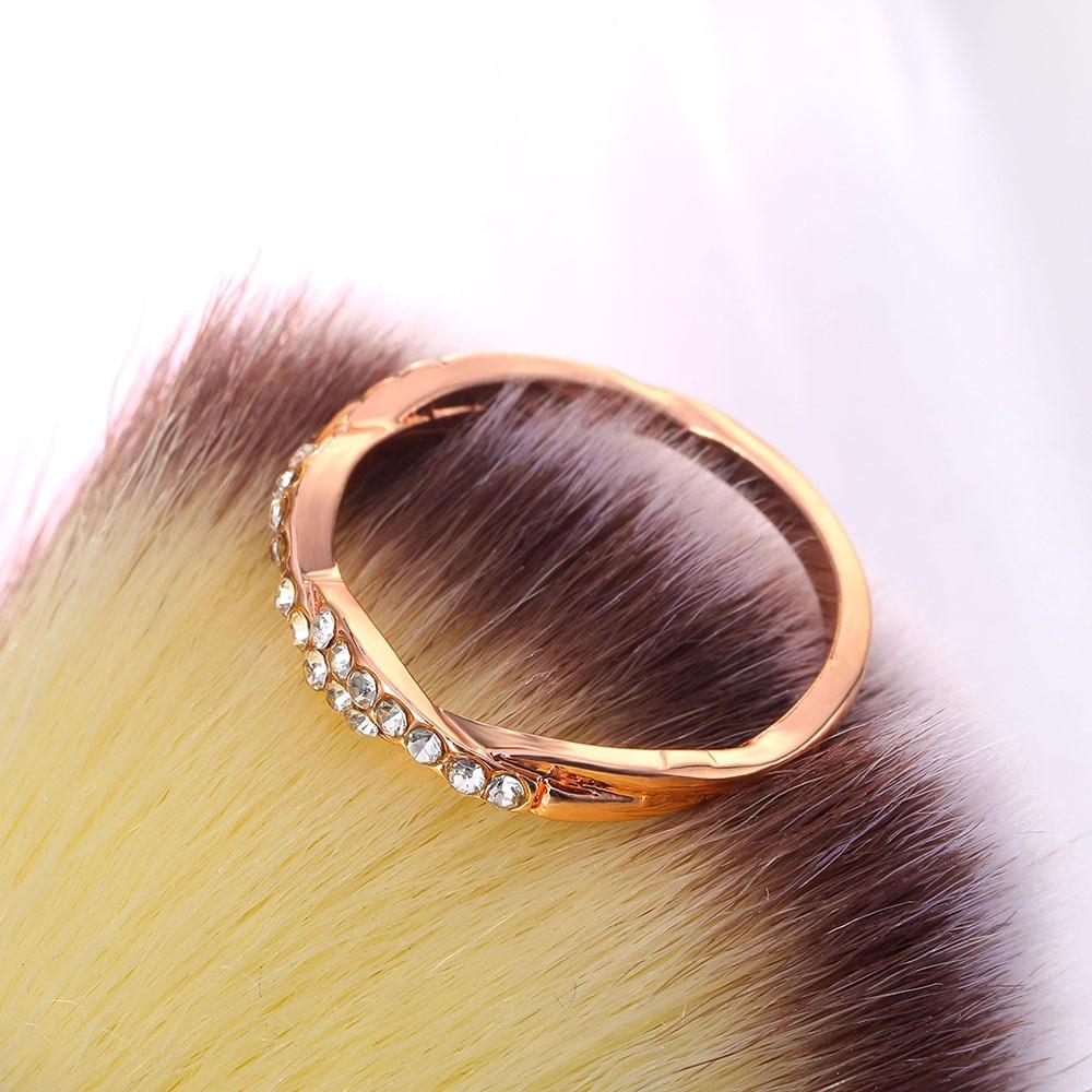 Women's Crystal Braid Ring