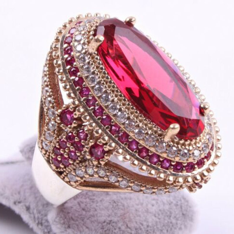 Women's Crystal Patterned Rings