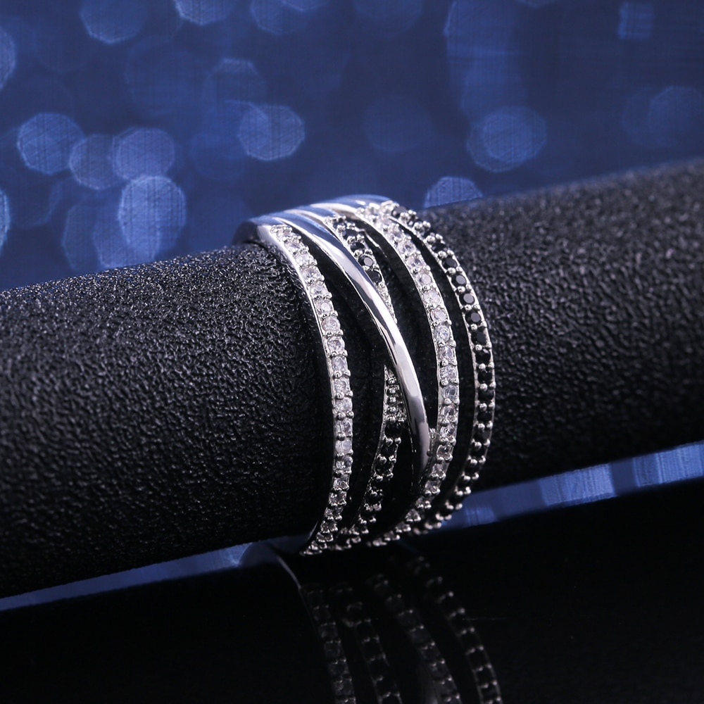 Multilayered Geometric Ring for Girls