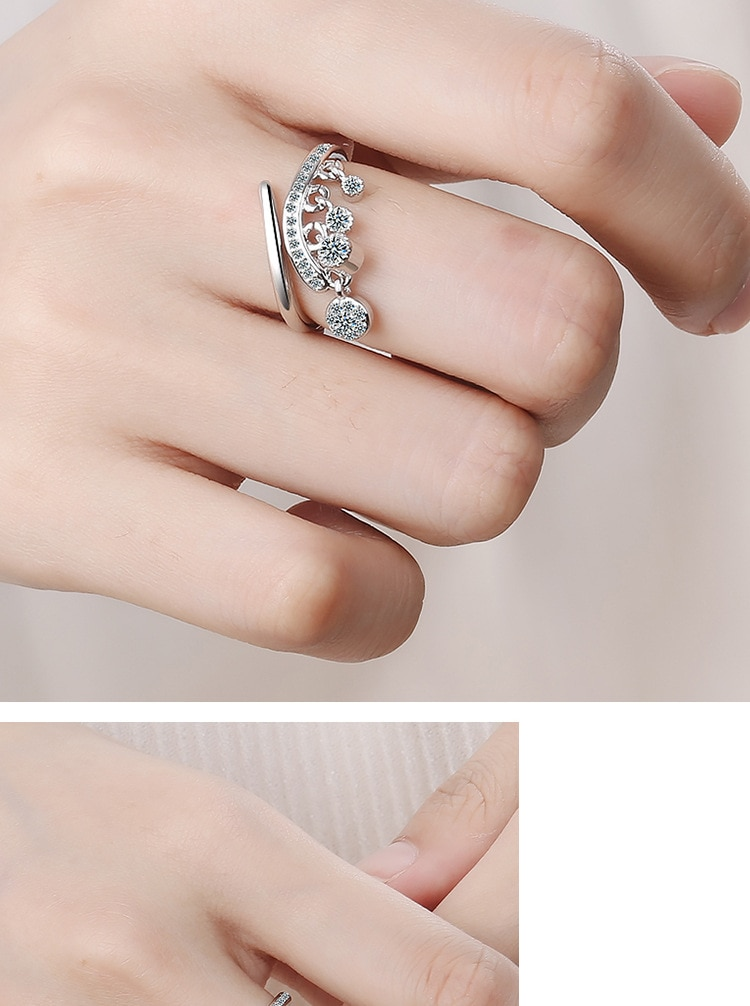 Women's 925 Sterling Silver Charm Ring