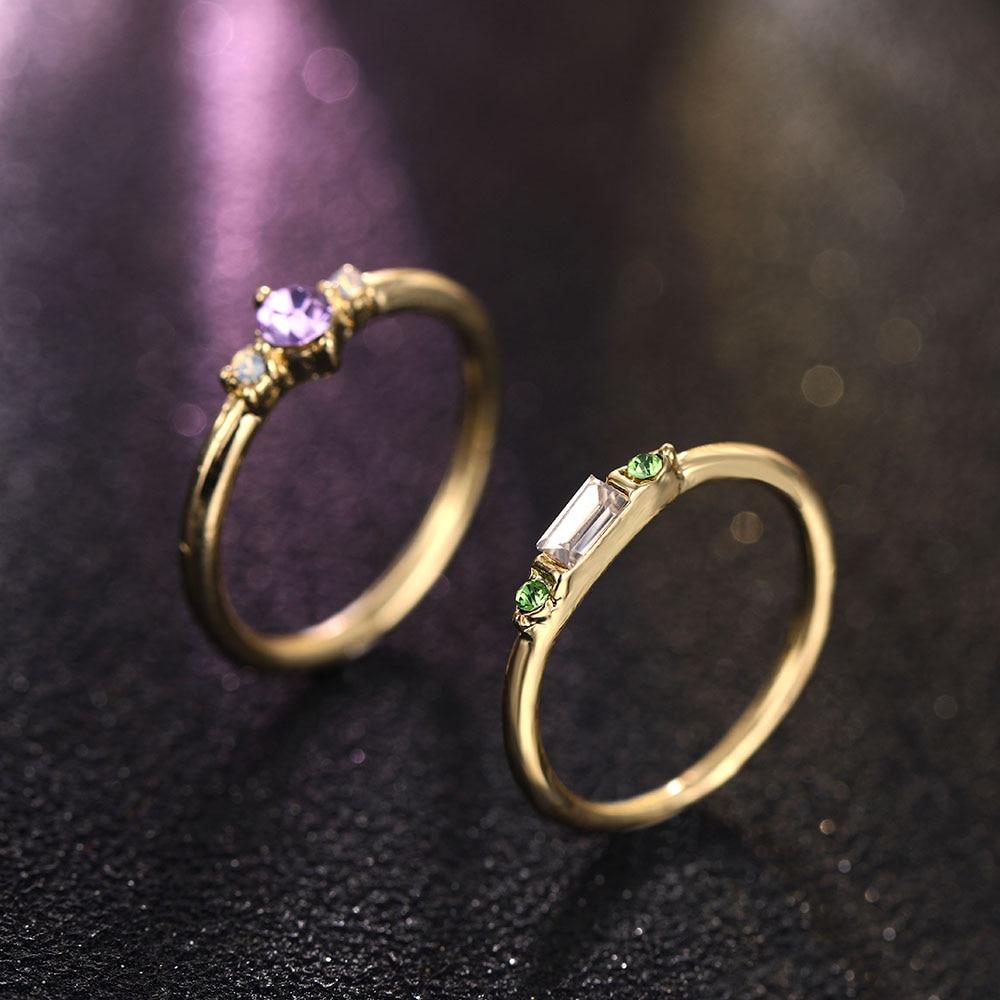 Women's Gold Ring Set 4 Pcs